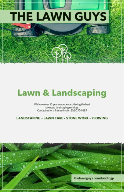 Flyer Templates for Lawn Services 125b