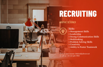 Recruitment Flyer Maker for HR Firms 291c
