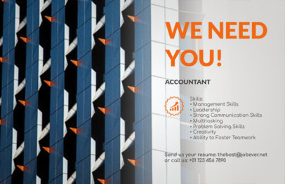 HR Services Flyer Maker with Customizable Background