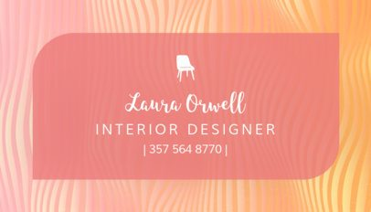 Custom Business Card Template for Furniture Designers 243c