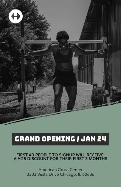 Discount Flyer Template for Gym Openings e341