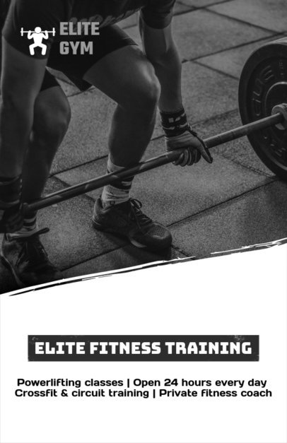Custom Flyer Maker for Fitness Training Programs f341