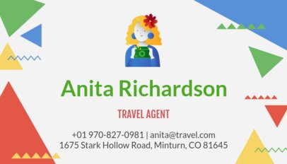 Business Card Maker for Freelancer Travel Agents 300c