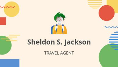 Business Card Maker with Backpackers Theme 300e