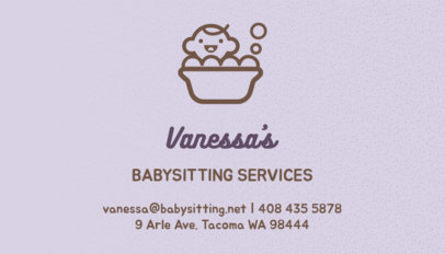 pastel business card template for babysitting services