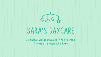 Business Card Maker with Pastel Colors for Daycares 256a