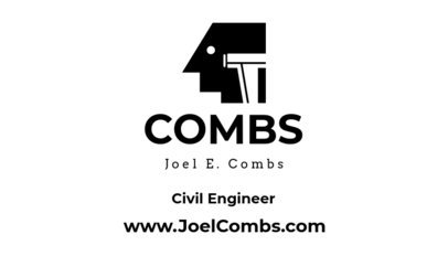 Civil Engineer Business Card Maker Black and White Theme 346b