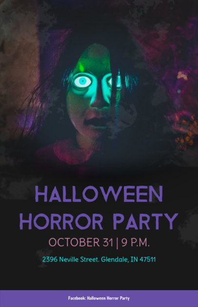 placeit halloween party flyer maker