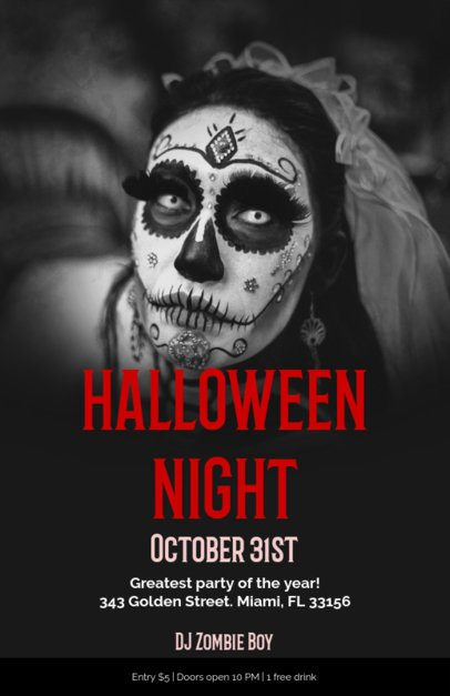 Halloween Party Online Flyer Maker with Creepy Images 123b