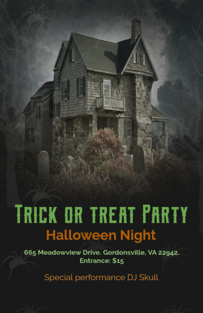 Online Flyer Maker With Haunted House Theme