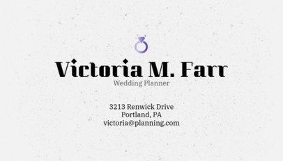 Wedding Planner Business Card Maker 305d