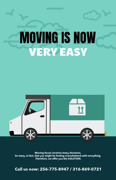 customizable promotional flyer template for moving companies