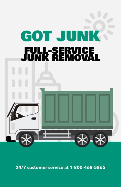 Promotional Flyer Maker for Junk Removal Services e318