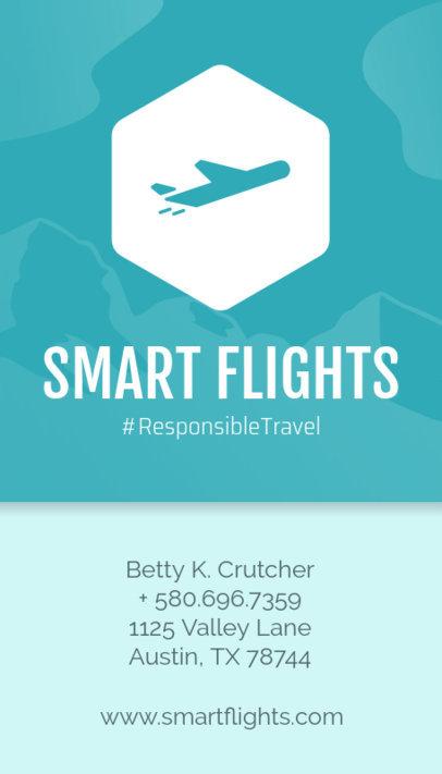 Business Card Maker for Tour Operators Blue Theme 338c