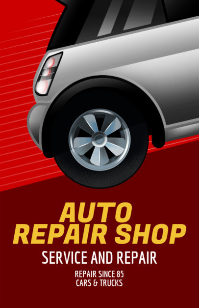 Online Flyer Maker for an Auto Shop with Vector Graphics 289a