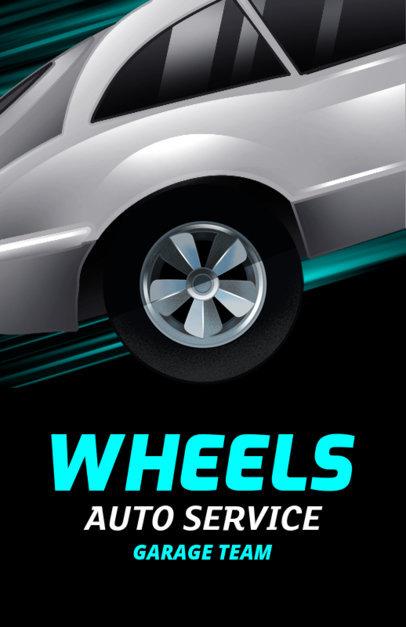 Auto Shop Flyer Maker with Car Vector Graphics 289c