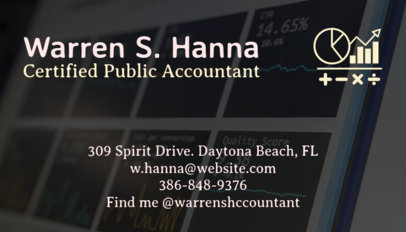 Accountant Business Card Maker 68a