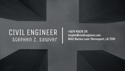 Online Business Card Maker for a Civil Engineer 303c