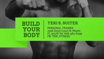 Personal Trainer Business Card Maker 351a