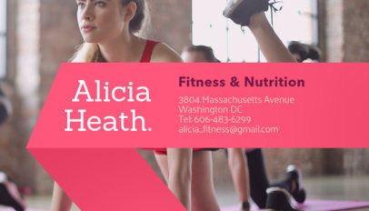 Female Personal Trainer Business Card Maker 351e