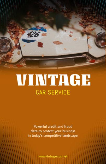 Vintage Car Online Flyer Maker 313c