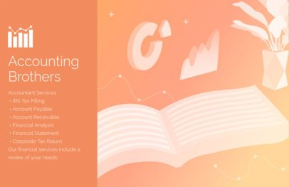 Flyer Template for an Accounting Firm Orange Theme 320d