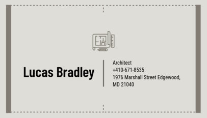 Minimalist Business Card Maker for Architects d319