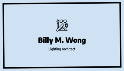 Lighting Architect Business Card Maker with Minimalist Graphics f319