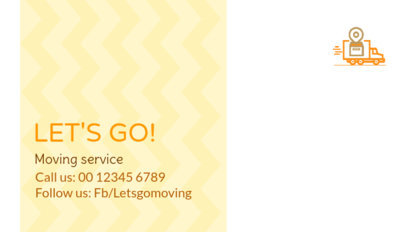 Moving Company Business Card Maker with Colorful Background 325c