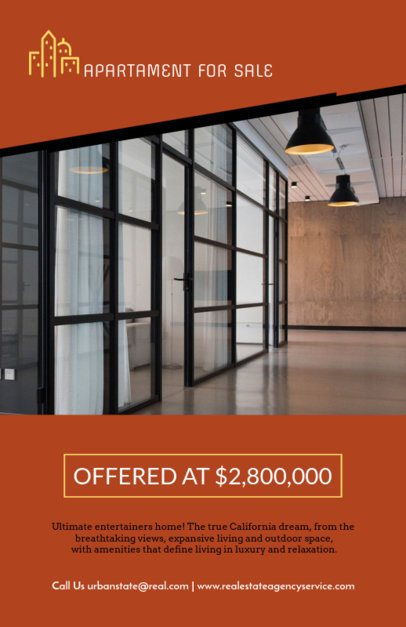 Flyer Template for Real Estate with Apartments for Sale 253b