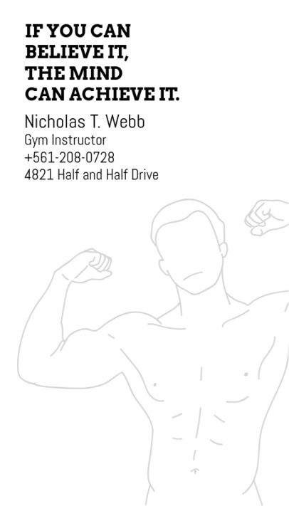Personal Trainer Business Card Maker with Minimal Style d342