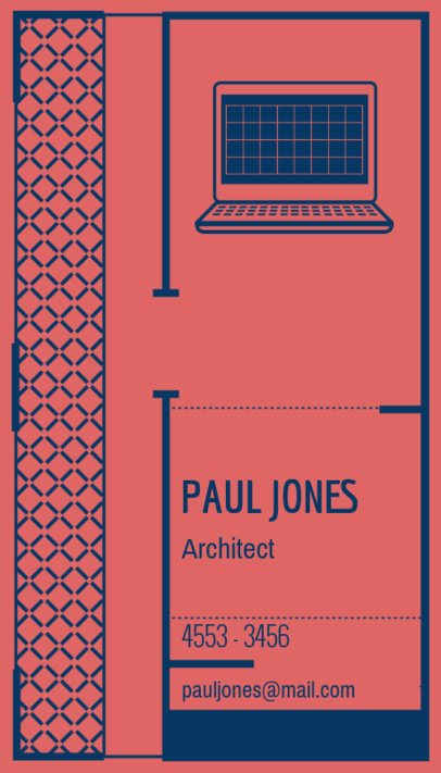 Online Business Card Maker for an Architecture Firm 306e