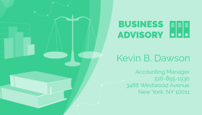 Business Card Maker for Business Advisors 321b