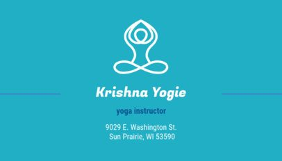 Creative Business Card Maker for Yoga Instructors 334a