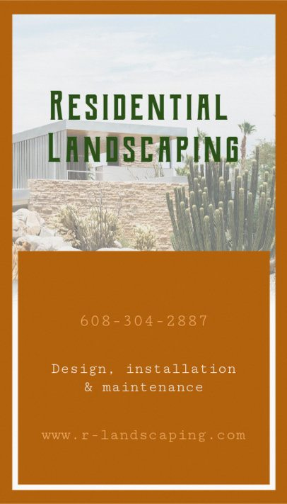 Online Business Card Maker for Landscaping Business 124b