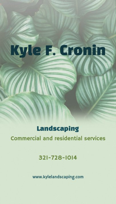 Business Card Maker for Commercial Landscaping Services 124c