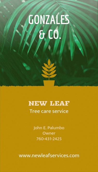 Online Business Card Maker for Landscaper with Leaf Icon 124e