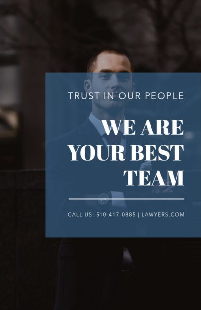 Lawyer Flyer Maker with Blue Transparency 335b