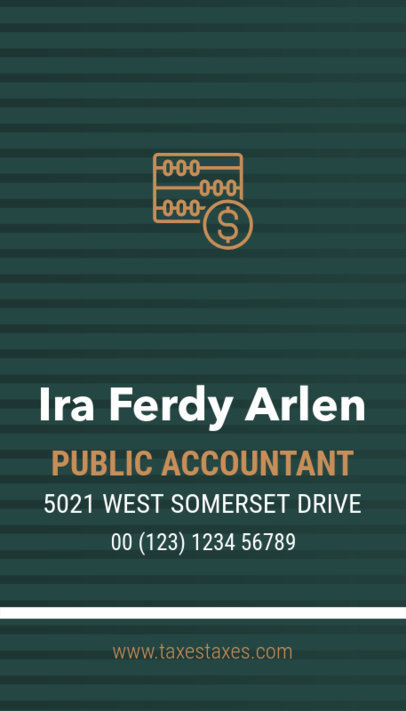 Online Business Card Maker for a Public Accountant 332a