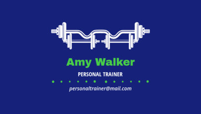 Simple Business Card Template for Personal Sport Trainers 350c-1877
