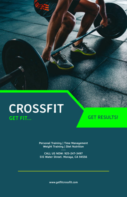 Flyer Maker for Crossfit Gym with Gym Images 131d