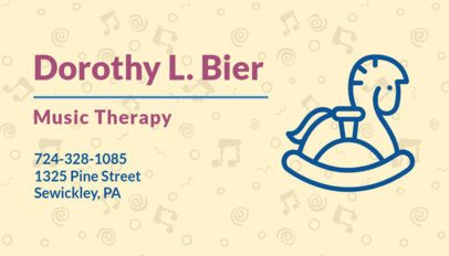 Online Business Card Maker for a Music Therapist 336a
