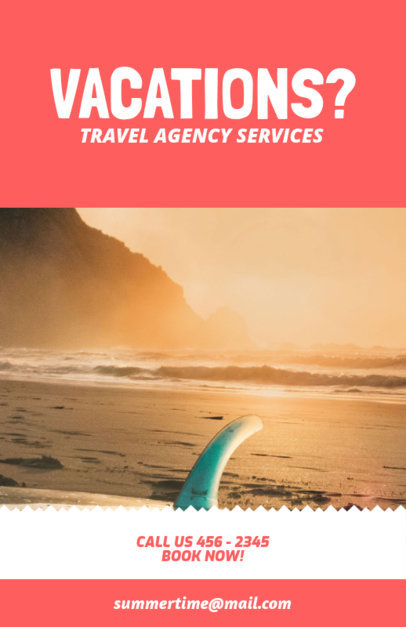 Online Flyer Template for Travel Agency Services 307b