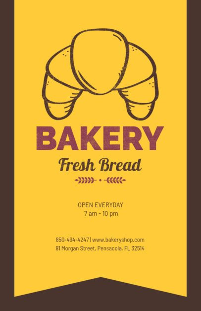 Bakery Flyer Maker with Pastry Graphics 369
