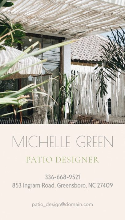Online Business Card Maker with Patio Design Images  327b
