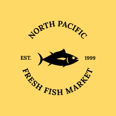 Fish Market Logo Maker 1225a