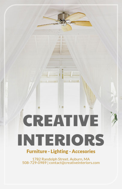 Flyer Template with Bold Fonts and White Home Interiors 317b