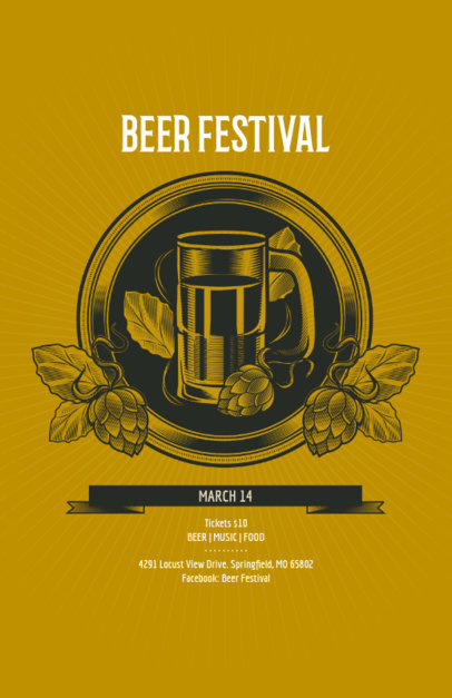 Beer Festival Online Flyer Maker 135c