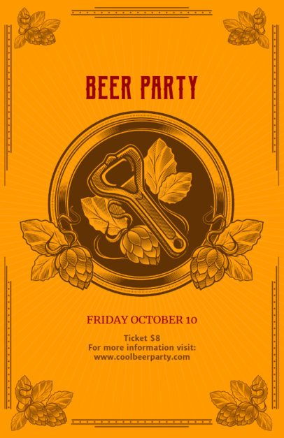 Beer Party Online Flyer Maker 135e