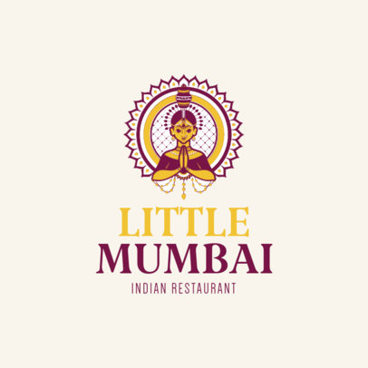 Indian Restaurant Logo Maker 1221b